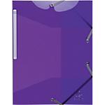 Chemises 3 rabats à élastique Exacompta Iderama A4 Violet