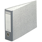 Classeur à levier Exacompta Marbre 70 mm Carton recouvert papier 2 Anneaux A4 Gris