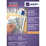 Intercalaires pour reliure Avery A4 Papier, dos cartonné Blanc, transparent   6 Unités