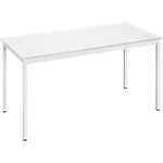 Table de réunion modulaire rectangulaire Domino 140 x 70 x 74 cm Blanc