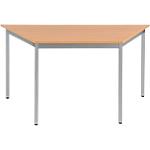 Table de réunion modulaire trapèze Domino 140 x 70 x 74 cm Imitation Hêtre