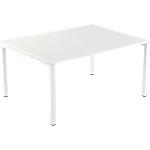 Table de réunion 4 pieds Paperflow EasyOffice Blanc 1500 x 1140 x 750 mm