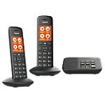 Téléphone Fixe Sans fil Gigaset C570A Duo Noir
