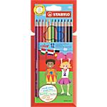 Crayons de couleur STABILO Swano Assortiment   12 Unités