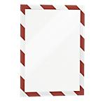 Cadre d'affichage adhésif DURABLE Duraframe Security A4 Rouge, blanc 325 x 2 mm