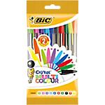 Stylo bille avec capuchon BIC Cristal Multicolour   10 Unités