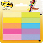 Marque Pages Post it papier 1,5 x 5 cm Assortiment   10 Unités de 50 Bandes