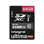Carte mémoire Integral Ultimapro 64 Go SDHC Bleu