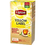 Sachets de thé noir Lipton 25 Unités