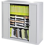 Armoire basse à rideaux Paperflow easyOffice 1100 x 415 x 1040 mm Blanc