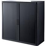 Armoire portes à rideaux Paperflow easyOffice 110 (L) x 104 (l) cm Noir