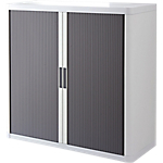 Armoire basse à rideaux Paperflow easyOffice 1 100 x 415 x 1 040 mm Blanc, anthracite