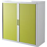 Armoire portes à rideaux   H. 104 x L. 110 cm   Paperflow   easyOFFICE   décor couleur vert