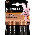 Piles alcalines Duracell PLUS Plus AA   4 Unités