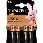 Piles Duracell Plus Power AA   4 Unités