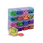 Mini boite de rangement Really Useful Boxes 0,14 L 6,5 (H) x 22,8 (l) cm Assortiment   16 Unités