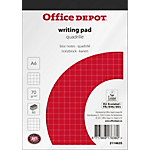 Bloc notes Office Depot A6 Quadrillé Blanc   40 Feuilles