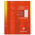 Copies doubles perforées Clairefontaine A5 Clairefontaine Blanc 100 Pages 50 Feuilles