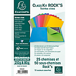 Chemises Exacompta Rock''s A4 210 g
