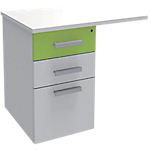 Extension de bureau Adjust 800 x 600 x 719 mm Blanc, vert