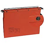 lot de 10 dossiers suspendus kraft à bouton pression pour tiroir fond V   L'Oblique AZ   orange