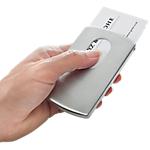 Étui carte de visite Pour cartes de visite (max. 91 x 57 mm) Sigel Snap Argenté