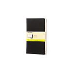 Cahiers Moleskine Noir 13 x 21 cm Page blanche Sans perforation 80 Pages 3 Unités
