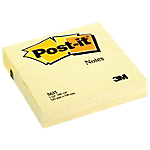 Notes adhésives Post it 100 x 100 mm Jaune   200 Feuilles