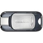 Clé USB SanDisk Ultra Type C 128 Go Noir, Argenté