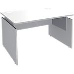 Bureau ajustable Adjust 1200 x 800 x 820 mm Blanc, gris aluminium