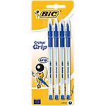 Stylo bille avec capuchon BIC Cristal Grip Bleu   4 Unités