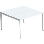 Ensemble 2 postes 4 pieds Paperflow EasyOffice Blanc 140 (l) x 166 (P) x 75 (H) cm