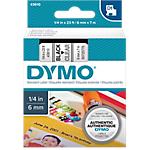 Ruban d'étiquettes DYMO D1 43610 6mm (L) x 7m (l) Noir, transparent