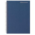 Cahier ligné reliure intégrale Office Depot Bleu foncé A5 Perforé 160 Pages   80 Feuilles