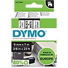 Ruban d'étiquettes DYMO D1 9 mm x 7 m Noir, blanc
