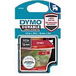 Ruban d'étiquettes DYMO D1 Durable 12mm (L) x 3m (l) Blanc sur rouge