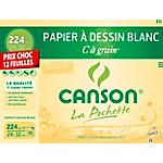 Papier à dessin Relief Canson C à grain 24 x 32 cm 224 g