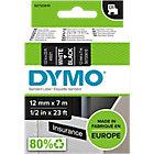 Ruban d'étiquettes DYMO D1 45021 12 mm x 7 m Blanc, noir