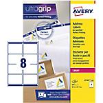 Étiquettes d'adresses Avery L7165 100 A4 Blanc 99,1 x 67,7 mm 100 Feuilles de 8 Étiquettes