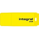 Clé USB Integral Néon 32 Go Jaune