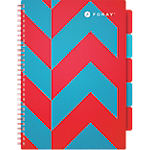 Cahier ligné reliure intégrale Foray Extreme A4 Rouge, turquoise 350 Pages   175 Feuilles