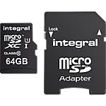 Carte mémoire MicroSD Integral Class 10 64 Go microSDHC