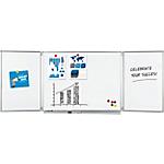 Tableau blanc triptyque Legamaster Professional Émail Magnétique 40 x 100 cm