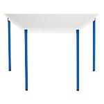Table de réunion modulaire trapèze Domino 120 x 60 x 74 cm Gris