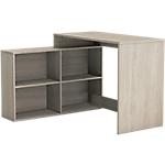 Bureau d'angle avec bibliothèque Home Office 11 (l) x 11,1 (H) cm Imitation chêne