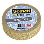 Ruban adhésif créatif 3M Deco Glitter 15 mm x 5 m Doré