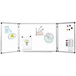 Tableau blanc Office Depot à trois panneaux Acier Laqué Magnétique 90 x 60 cm