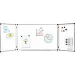 Tableau blanc Office Depot à trois panneaux Magnétique 120 x 90 cm