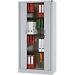 Armoire portes à rideaux WorkPro Tôle d'acier 90 (L) x 45 (l) x 180 (H) cm Gris
