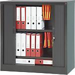 Armoire à rideaux Acier, PVC Porte rideaux 1000 x 450 x 1000 mm Realspace